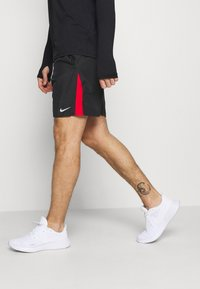 Nike Performance - RUN SHORT - Sports shorts - black/university red/reflective silver - 3