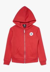 Converse - CHUCK PATCH FULL ZIP HOODIE  - Zip-up hoodie - university red - 0