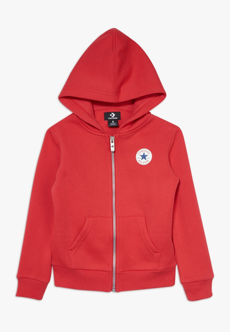 Converse - CHUCK PATCH FULL ZIP HOODIE  - Zip-up hoodie - university red
