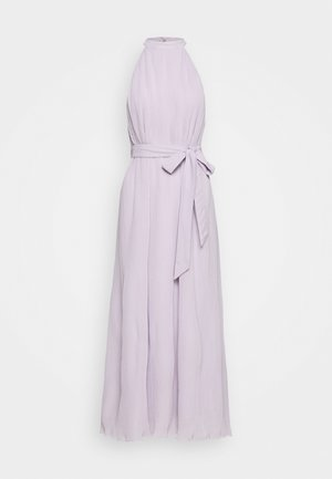 HALTERNECK PLEATED DRESS - Occasion wear - purple