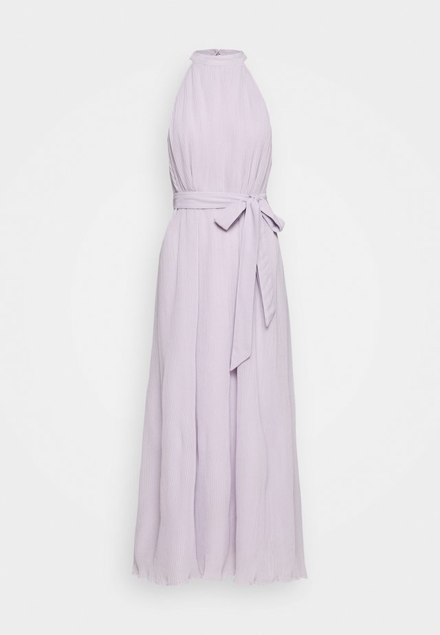 HALTERNECK PLEATED DRESS - Festklänning - purple