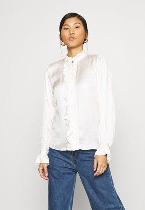 MIMI BLOUSE - Button-down blouse - cream white