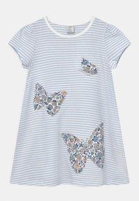 Lindex - MINI BUTTERFLIES - Print T-shirt - light blue - 0