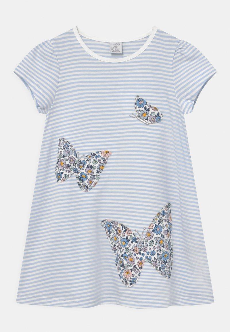 Lindex - MINI BUTTERFLIES - Print T-shirt - light blue
