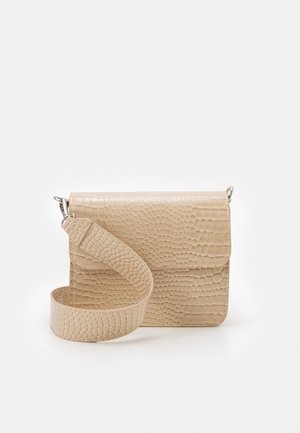 CAYMAN SHINY STRAP BAG - Skulderveske - sand beige