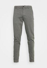 DAVE BARRO - Trousers - dar grey melange