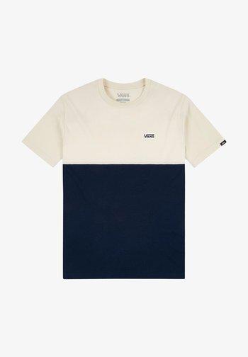 MN COLORBLOCK - Print T-shirt - dress blues/seed pearl