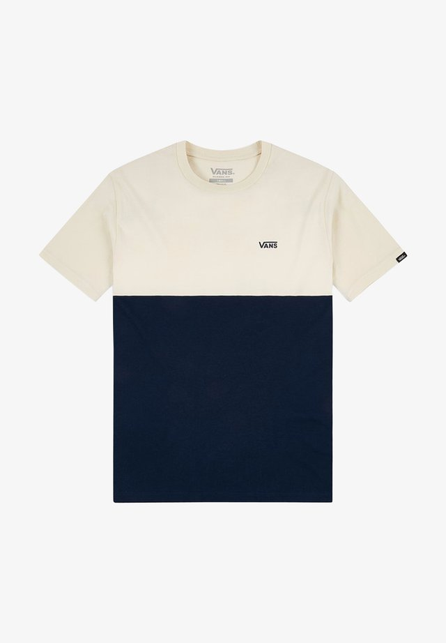 MN COLORBLOCK TEE - T-shirt con stampa - dress blues/seed pearl