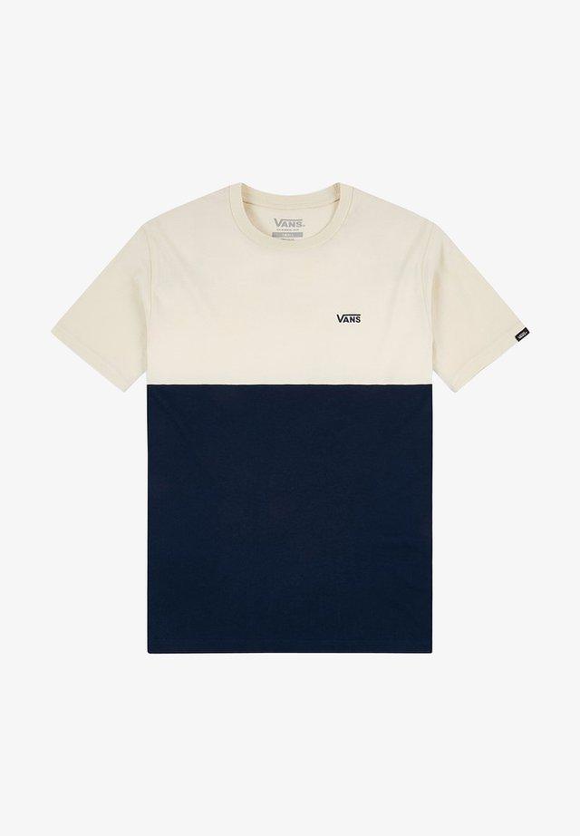 MN COLORBLOCK TEE - Print T-shirt - dress blues/seed pearl