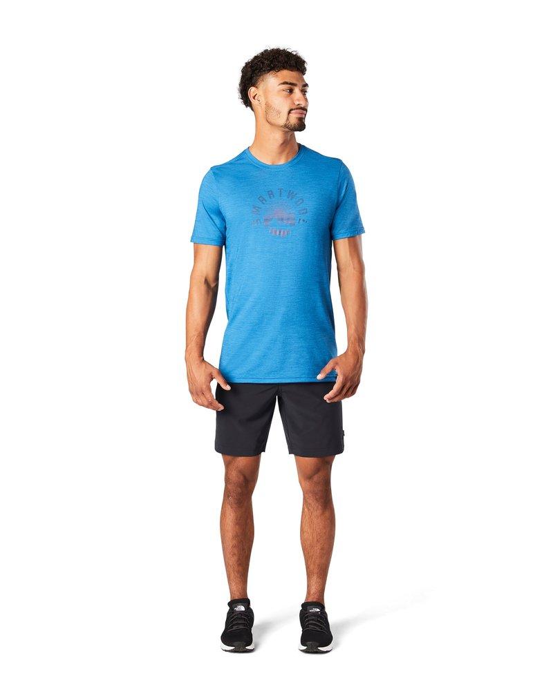 Smartwool - T-shirt print - light neptune blue heather