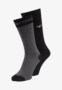 Emporio Armani - SHORT 2 PACK - Socks - black - 0
