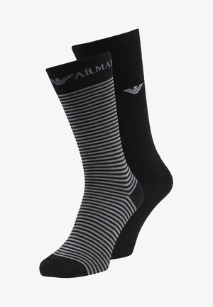 SHORT 2 PACK - Socks - black
