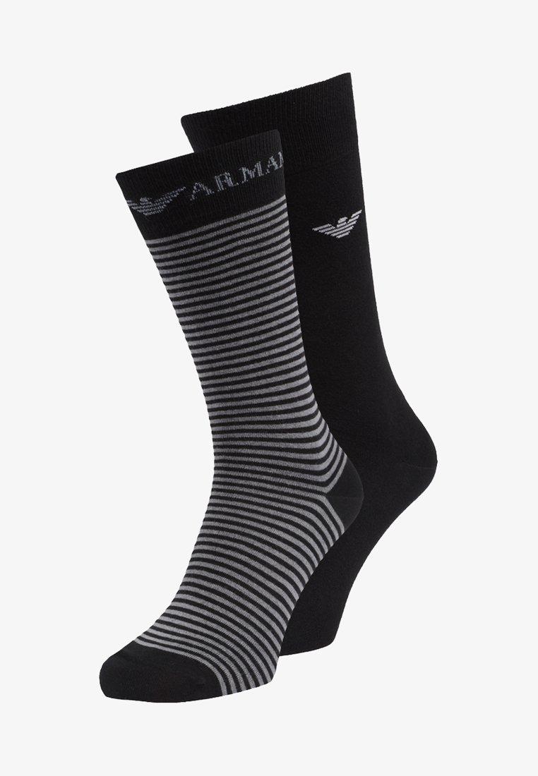 Emporio Armani - SHORT 2 PACK - Socks - black