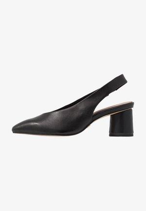 SLING BACK - Classic heels - black