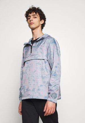 MENS OVERHEAD JACKET - Windbreaker - light blue/pink