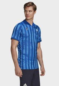 adidas Performance - Print T-shirt - blue - 4
