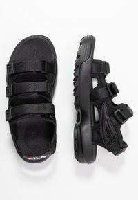 Fila - DISRUPTOR - Sandály na platformě - black - 3