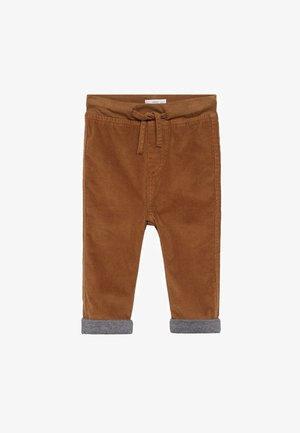 MORITZ - Trousers - tabákově hnědá
