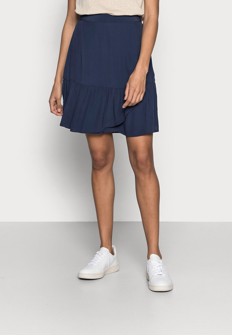 Esprit - SKIRT - A-line skirt - navy