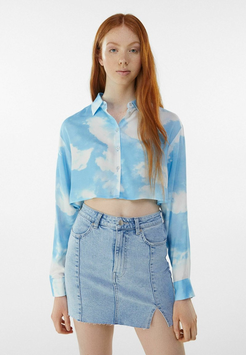 Bershka - Košile - light blue