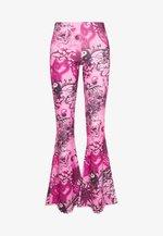 FLARE TROUSER - Pantalones - pink