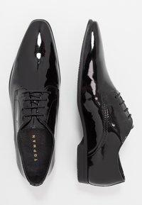 Topman - BRIAR DERBY - Stringate eleganti - black - 1