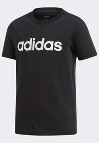 adidas Performance - ESSENTIALS LINEAR LOGO T-SHIRT - Camiseta estampada - black - 4