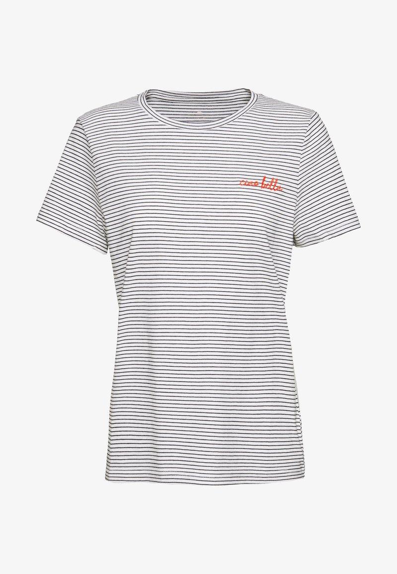 TOM TAILOR - Print T-shirt - offwhite