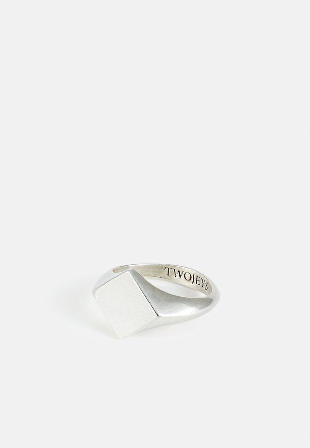 DIAMOND RING UNISEX - Ring - silver-coloured