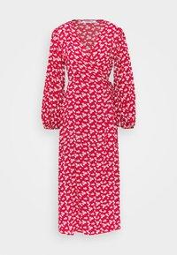 Glamorous - LONG SLEEVE WRAP DRESS WITH V NECK - Maxikjole - red / white - 0