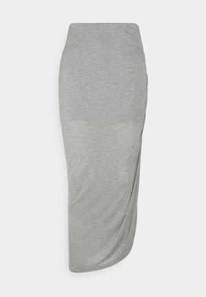 LUNA - Pencil skirt - grey melange
