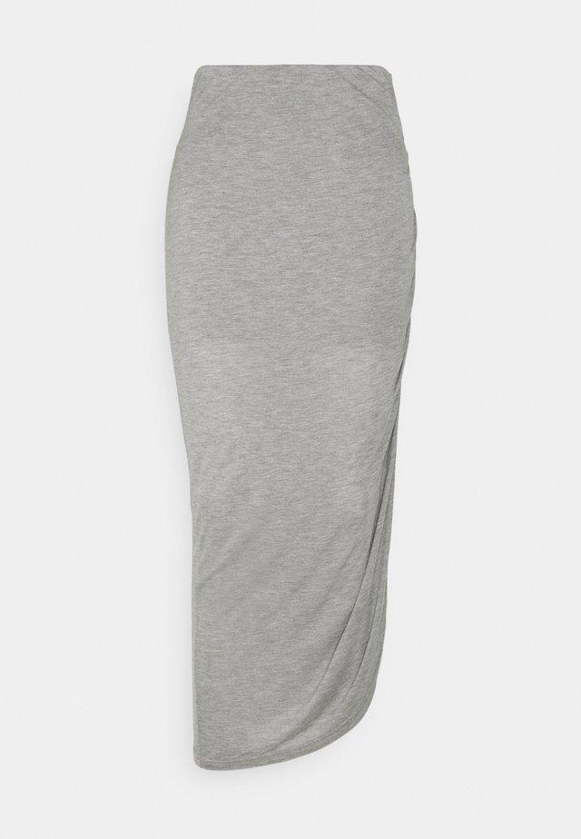 LUNA - Blyantskjørt - grey melange