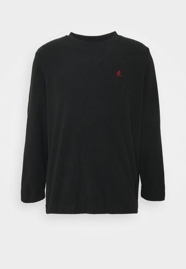 FLEECE CREW NECK - Sweatshirt - black