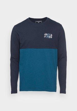 JCOSTEVE TEE CREW NECK - Langærmede T-shirts - navy blazer
