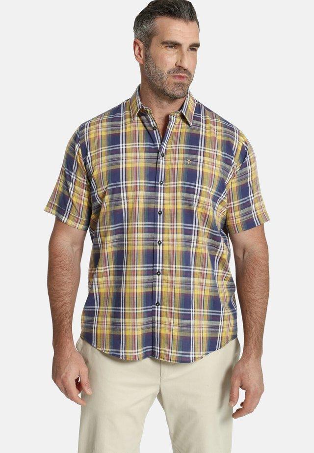 DUKE  - Overhemd - gelb kariert