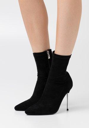 LIMONE - Kotníková obuv na vysokém podpatku - black