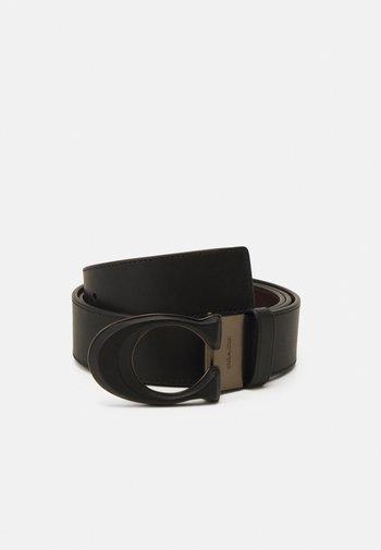 BUCKLE BELT - Belt - black/ox blood