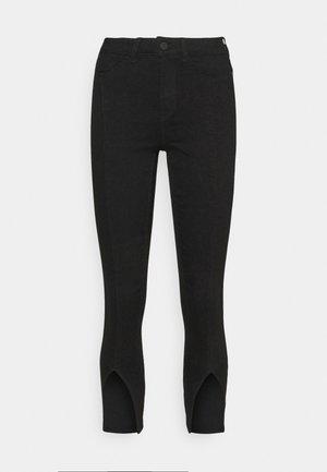 NMCALLIE SLIT DETAI - Jeans Skinny - black denim