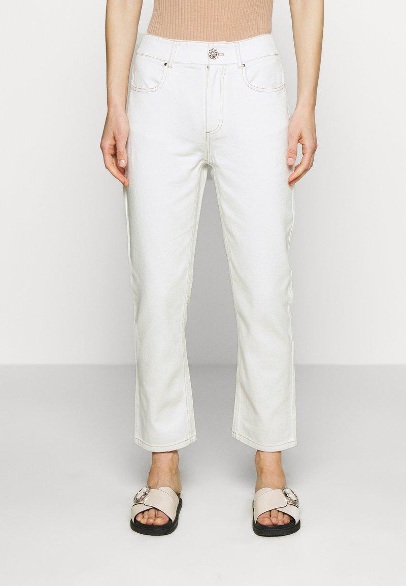 Custommade - YUKI PANTS - Straight leg jeans - whisper white
