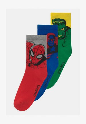 BOY MARVEL SUPERHEROES 3 PACK UNISEX - Sokken - multi-coloured