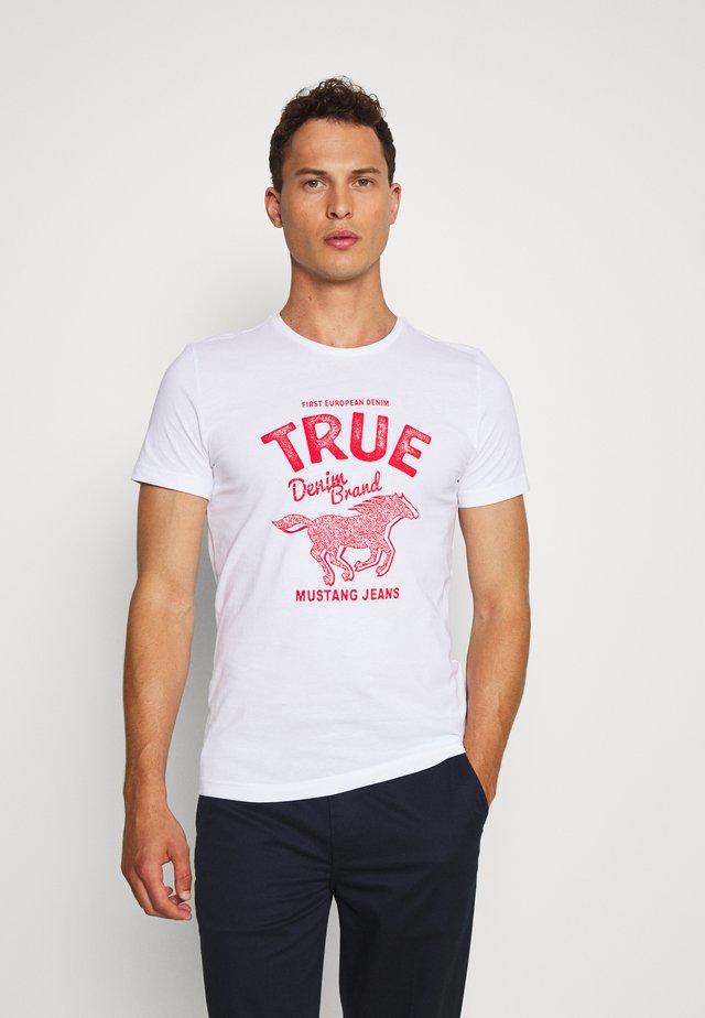 AARON  - Print T-shirt - general white