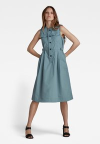 G-Star - FIT AND FLARE - Shirt dress - light bright nickel - 2