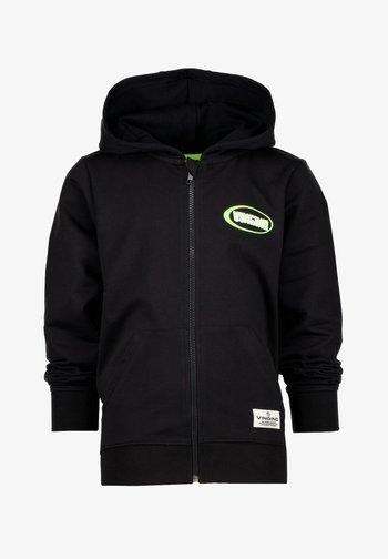 Zip-up sweatshirt - deep black