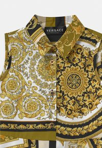 Versace - PRINT HERITAGE - Shirt dress - white/gold/kaki - 2