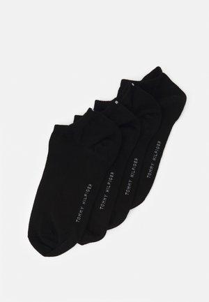 WOMEN SNEAKER 4 PACK - Socks - black