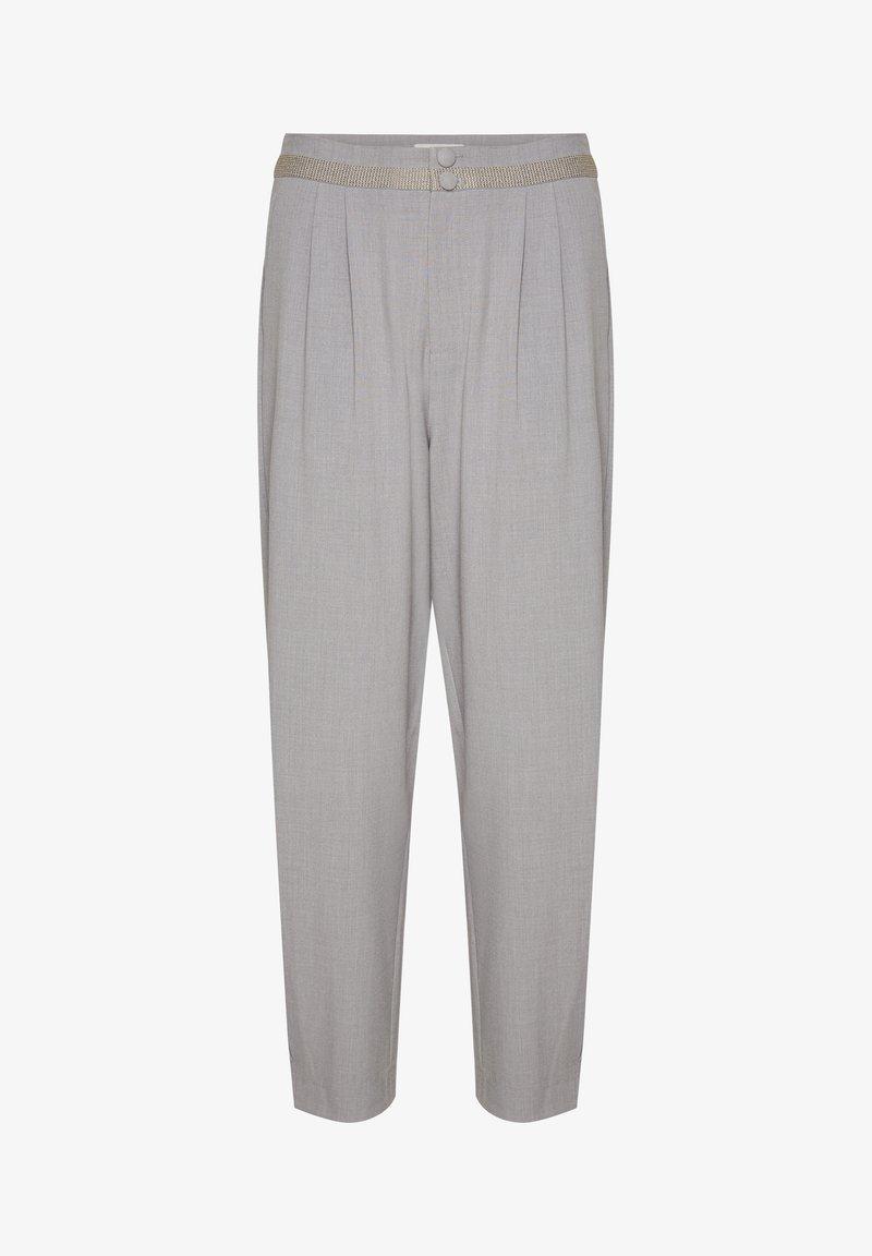 Cream - CRRYBECA - Trousers - light grey melange