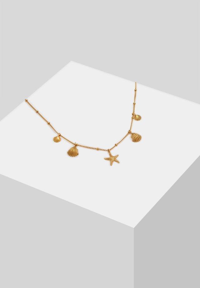 MUSCHELN SEESTERN KUGEL - Halskette - gold