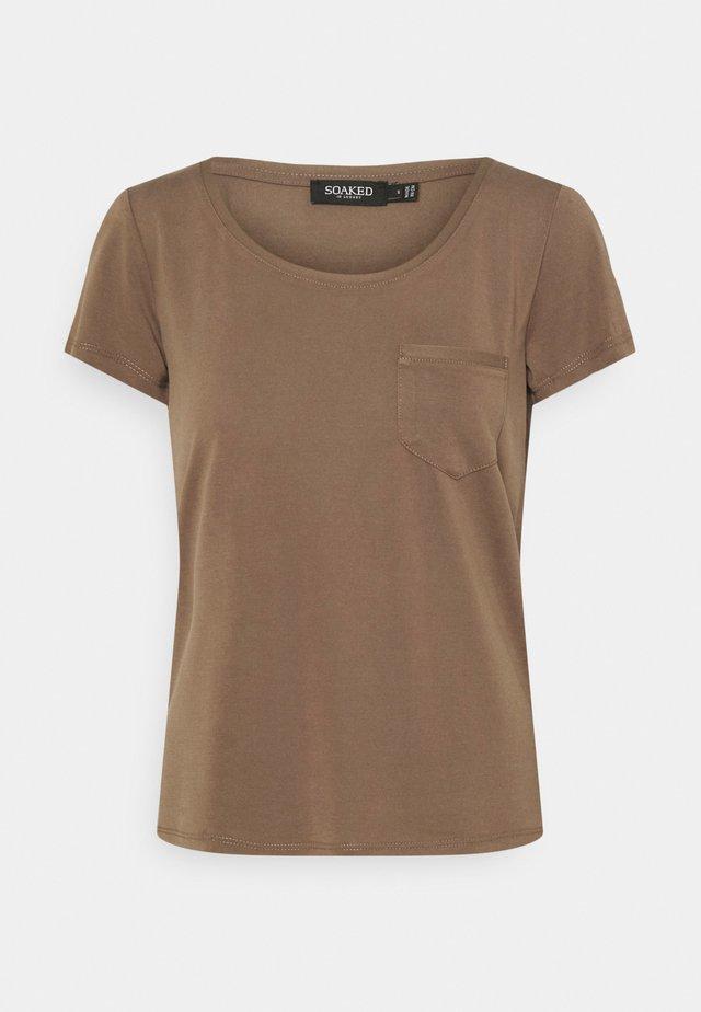 COLUMBINE TEE - T-shirt basic - chocolate chip