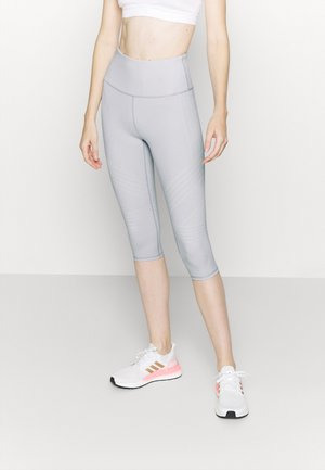 STRIPE CAPRI - Leggings - light grey