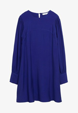 JURK MET POFMOUWEN - Day dress - blauw